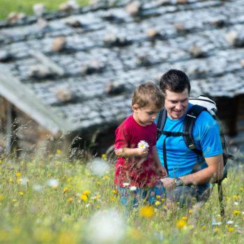 L'Alpe di Siusi, ideale per le escursioni in famiglia