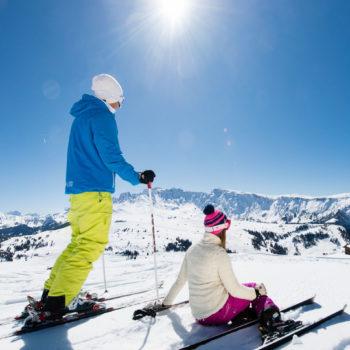 Herrliche Aussicht in den Dolomiten Bergen