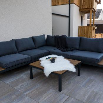 Area di seduta in terrazza