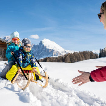 Tobogganing fun for the whole family on the Seiser Alm guaranteed