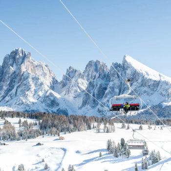 Winterlandschaft Dolomiten - Seiser Alm