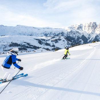 Skispaß auf perfekt präparierten Pisten in den Dolomiten