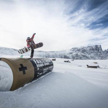 Snowpark King Laurin auf der Seiser Alm in den Dolomiten